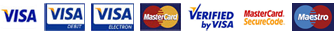 Accepted Cards; Visa, Visa Debit, Visa Electron, Mastercard. Verified By Visa, Mastercard Securecode